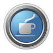 "3D Style Button ""Cafeteria / Hot Beverage"""