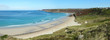 Sennen Cove beach and Cape Cornwall panorama, Cornwall UK.