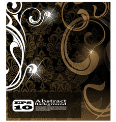 the vector brown abstract background eps 10