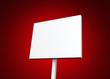 Blanko-Schild einzeln auf rot 01