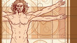The Vitruvian man (Fragment)
