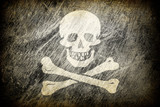 Grunge rubbed flag of Jolly Roger. poster