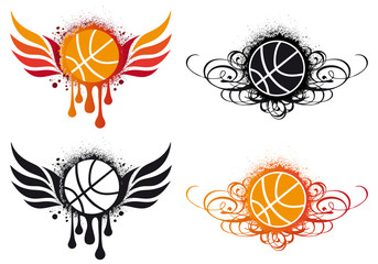 basketball designs, vector