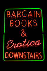 Adult bookstore neon sign