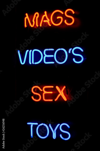 Sex shop neon sign