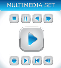 Blue multimedia set
