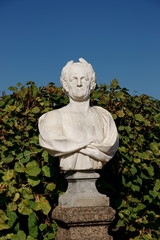 Park sculpture - the ancient Roman senator