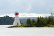 Bras D'Or lake lighthouse near Baddeck, Cape Breton, Nova Scotia
