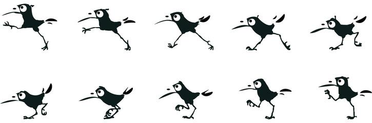 La marche d'un oiseau2