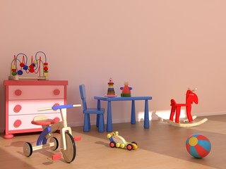 Child room with toys