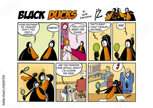 Staande foto Comics Black Ducks Comic Strip episode 57