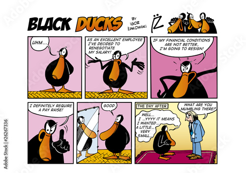 Tuinposter Comics Black Ducks Comic Strip episode 56