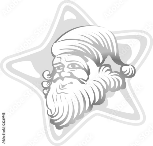 Santa's head in a star design