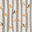 autumn trees pattern