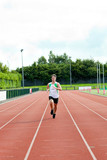 Male sprinter training