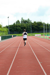 Concentrated male sprinter training
