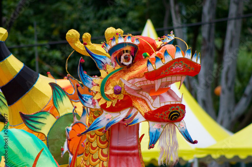 Dragon decoration during Mid-autumn Festival in Hong Kong