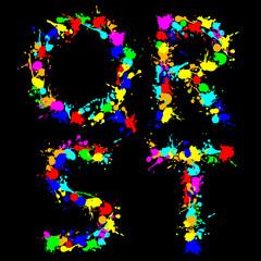 alphabet color drop QRST