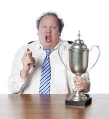 homme d'affaires trophée ascension