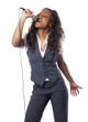 jeune chanteuse de type africaine