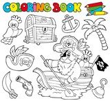 Coloring book with pirates 1 - 26274728