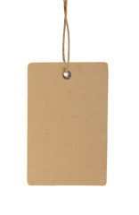 brown paper tag isolated on wbite background