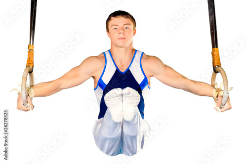 gymnast on white