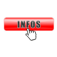 Button Infos rot