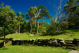 Ruins of a terrace of an ancient settlement of the Tayrona poster