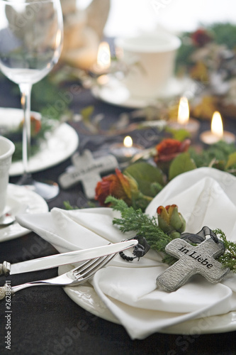 Leinwanddruck Bild Beerdigungskaffee