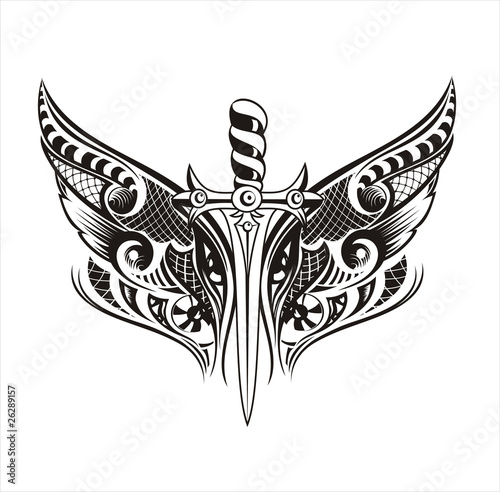 Sword With Wings Logo Wings With Sword