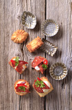Canapes and small baking molds poster