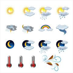 Weather icon vector set vector