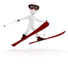 3d man extreme winter sport