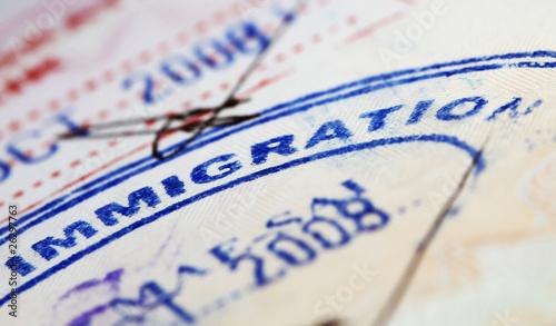 Leinwanddruck Bild passports
