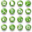 office green buttons