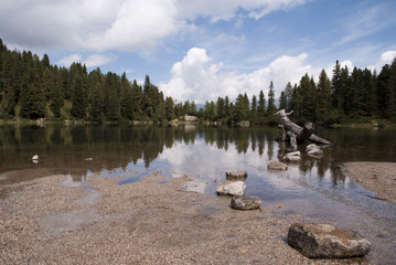 lake with forest