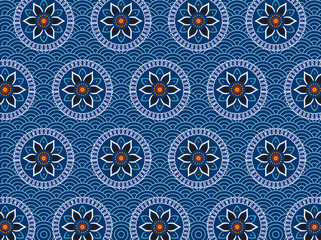 East-styled seamless vector pattern