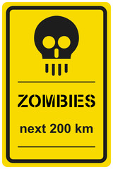 Vector sign zombies next 200 km
