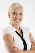 blond office worker