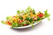insalata di mais,pomodori e ravanelli