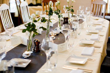 Wedding venue dinner table