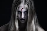 zombie with wound on forehead poster