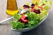 insalata fresca con pomodori e olive