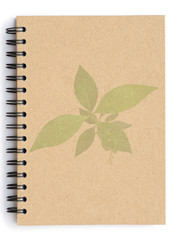 Recycle notebook with tree pattern on cover