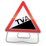 Panneau de danger augmentation de TVA (métal ombre) poster