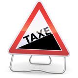 Panneau de danger augmentation de taxe (métal ombre) poster