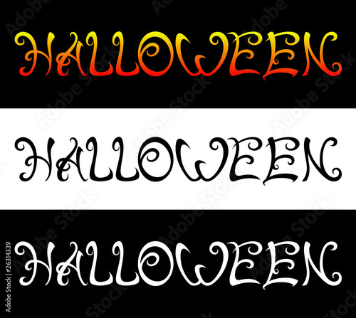 Halloween inscription
