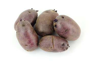 Overhead View Group Purple Potatoes