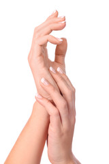 hand of woman with manicure
